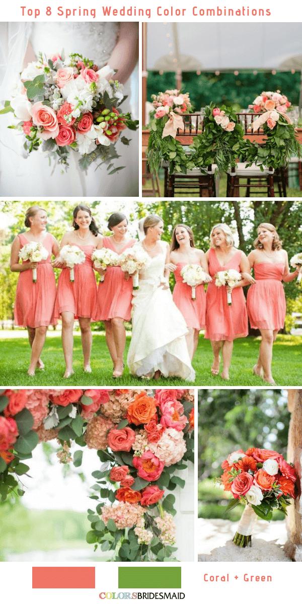 Spring Wedding Colors.Top 8 Spring Wedding Color Palettes For 2019 Santorini Wedding