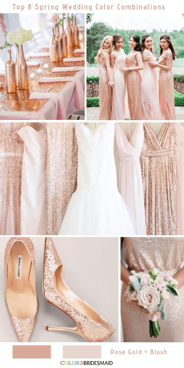 Top 8 Spring Wedding Color Palettes For 2019 Santorini Wedding